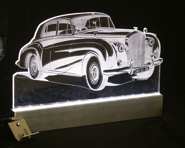 A custom Bentley car light