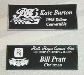 Traditional name badges